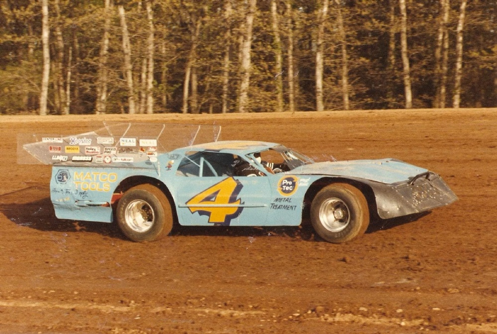 A photo of Mike Clark's #4 he raced throughout the Midwest back in the 1970s and '80s.